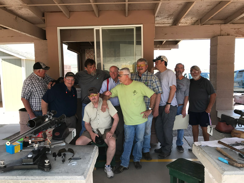 A group of men at the VFS Benchrest